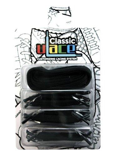 U-Lace - In Line Single Colour, Accessori Per Calzature, unisex Nero(Black)