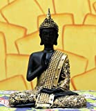 #6: Om Arts Sitting Buddha Idol Statue Showpiece- Orange and Black