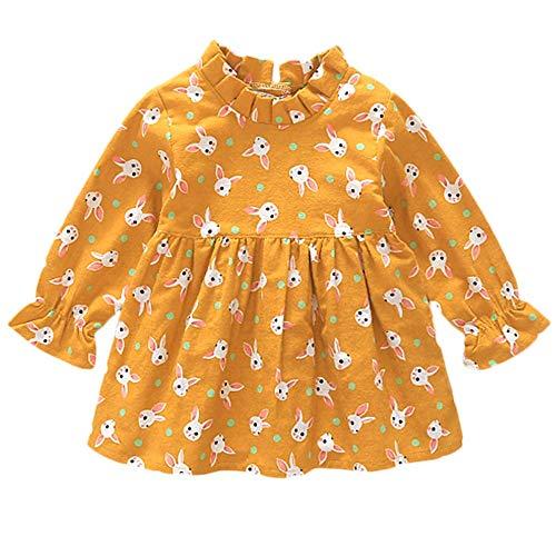 Lenfesh Mädchen Kleid Niedlich Partykleid, Kleinkind Baby Mädchen Kaninchen Cartoon Geraffte Prinzessin Kleider Kleidung