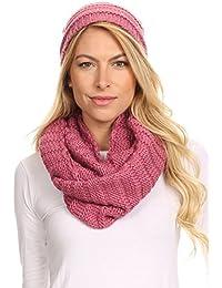 Sakkas Sayla strass Jewel doux chaud Câble tissé Knit Bonnet et écharpe