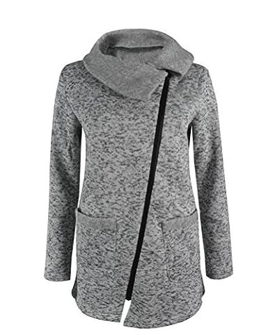 SunIfSnow - Manteau - Blouson - Uni - Manches Longues - Femme - gris - Small