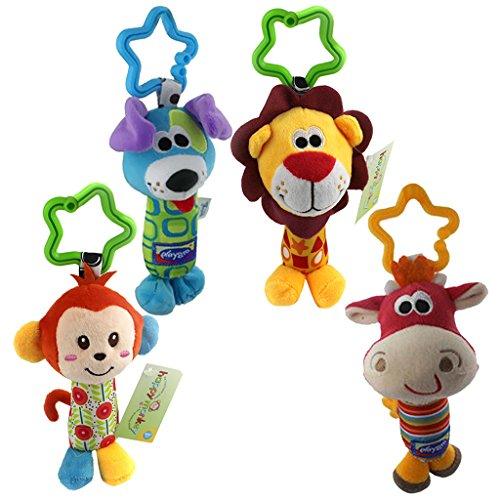 Sharplace Nett Baby Hängen Rasseln Puppe Glöckchen Krippe Kinderwagen Spielzeug Kuh + Hund + Affe + - Und Baby-affe-autositz Kinderwagen