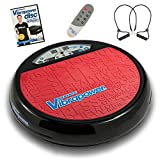 Vibrapower Disc 2 Limited Edition Vibration Plate with Resistance Bands + Free DVD, Red