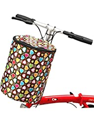 Cesta de bicicleta delantera colorida plegable para las señoras