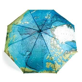 Fashion World Map Pattern Anti-UV Lightweight Umbrella Folding, Windproof Rain Auto Open/Auto Close Umbrellas for Women Ladies Mens Girls