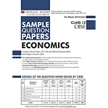Oswaal CBSE Sample Question Papers for Class 12 Economics (Mar.2018 Exam)