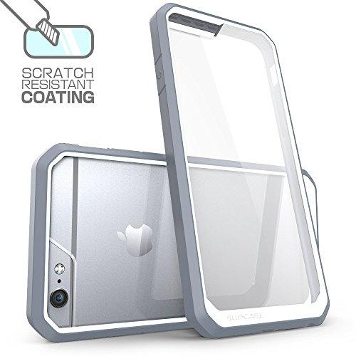 iPhone 7 plus Hülle,Ultra Slim transparente kratzfeste Bumper-Style Handyhülle Premium Silikon TPU+PC Material Schutzhülle für iPhone 7 plus Blau Grau