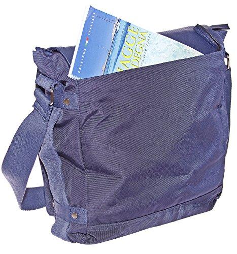 Dokumententasche Kuriertasche Schultertasche Citybag Flugbegleiter Umhängetasche Business Messenger Bag Tasche (Braun) Blau