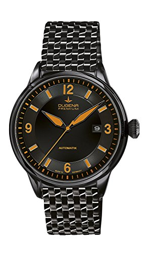 Dugena Men's KAPPA 1 Automatic Watch with Automatic Dial Analogue Display and Black Stainless Steel Plated Bracelet