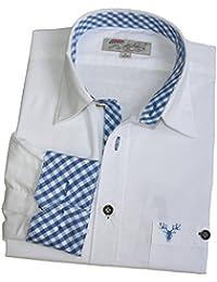 Trachtenhemd weiss Gr. XS-XXXL 100% Baumwolle Deutscher Hersteller
