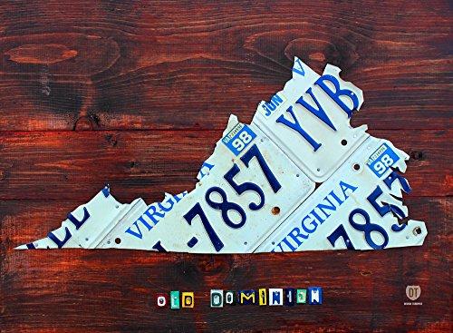 Design Turnpike – Virginia License Plate Map Kunstdruck (81,28 x 60,96 cm)