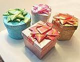 Novel Box TAFT Boîtes à Bijoux Cadeau, Papier, Blue/Green/Off-White/Orange/Purple/Red/Yellow, 1.8' X 1.5' X 1.8' (Pack of 12)