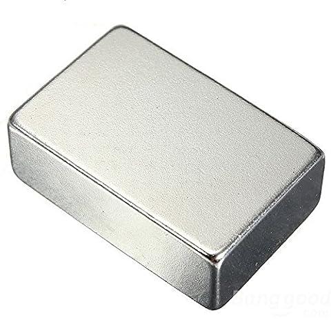Magnetastico®   2 ultrastarke Neodym Magnete Rechteck 40x20x10 mm N52 NiCuNi Silber   Neodymium Permanentmagnet Dauermagnet Supermagnet Haftmagnet Rechteckmagnet