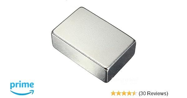 AXIAL 10 x FERRIT QUADERMAGNET 40x20x10 mm GRADE Y35 MAGNETISIERT DURCH 10 mm