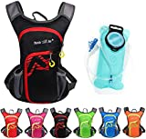 Asiki 12L Hydration Backpack with 2L Water Bladder - Waterproof Camping Hiking Running Biking Trekking Climbing Cycling Hydration Pack & Rucksack