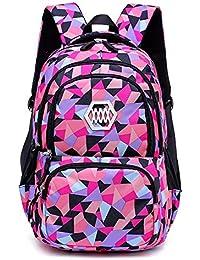 4b815272c Mochila trolley para niños maleta bolsa Estampados geométricos Escuela  primaria Estudiante Satchel Mochila para niñas Impermeable