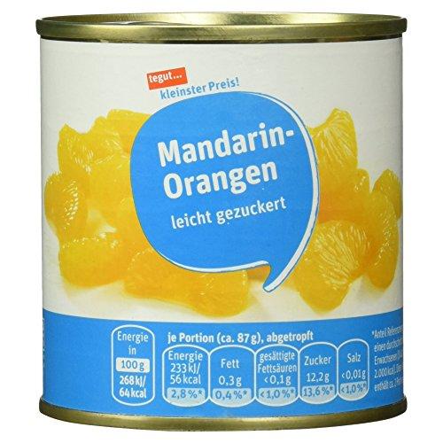Tegut kleinster Preis Mandarin-Orangen, 175 g