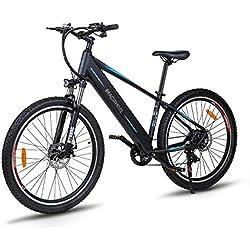 """Macwheel Wrangler-600 Vélo de Montagne Electrique, 27,5"""" VTT Electrique, 36V/12,5Ah Batterie Lithium-ion Intégré au Cadre, Shimano Dérailleurs à 7 Vitesses,Tektro Double Freins à Disque,Adulte Unisexe"""