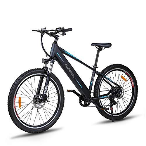 """Macwheel Wrangler-600 27,5\"""" Elektrisches Mountainbike, Austauschbarer 36V/12,5Ah Lithiumionenakku im Rahmen Integriert, Shimano 7-Fach, Sattel Verstellbar, Tektro Scheibenbremsen, E-Bike zum Pendeln"""