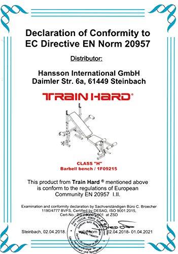 TrainHard Multifunktion Hantelbank (mit Hantelset) - 5
