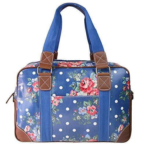 miss-lulu-flower-dot-oilcloth-travel-weekend-away-bag-navy-l1106f-ny