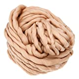 Mmrm Super-Chunky Garn weicher Wolle Roving Sperrige Yarn Spinning Hand Knitting -260G-Hellbraun