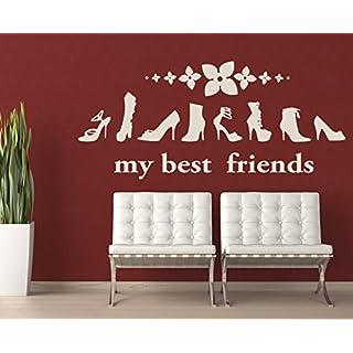 arslinea Wandtattoo - my best friends, 60x33 cm, hellgrün