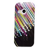 iCues HTC One Mini 2 - M8 Mini |  Design TPU Case Blumen Eule Owl Sternschnuppe | [Display Schutzfolie Inklusive] Damen Frauen Mädchen Silikon Gel Motiv Muster Schutzhülle Hülle Cover Schutz
