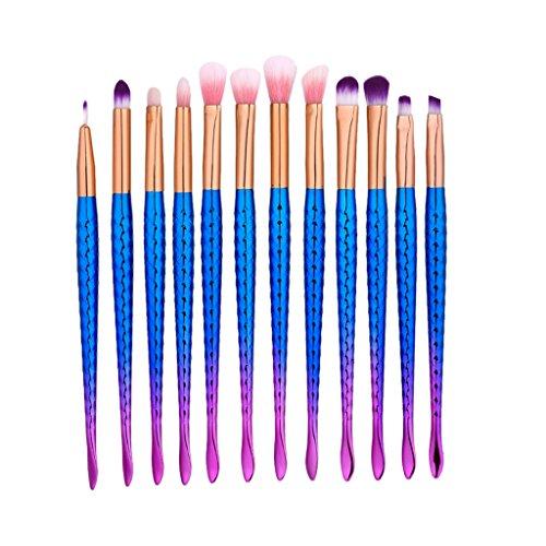MagiDeal Pinceaux De Maquillage De 12 Pièces Pour Ombre à Paupières Eyeliner Sourcils Poudretique