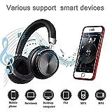 Bluetooth Kopfhörer Over Ear diwuer Wireless Faltbares HiFi Stereo Gaming Headset mit Noise Cancelling Mikrofon unterstützt Freisprechen und kabelgebundenen Modus für PC Handys TV