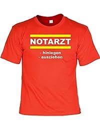 Witziges Sprüche Fun T-Shirt : Notarzt -hinlegen -ausziehen Witziges Sprüche Fun T-Shirt :