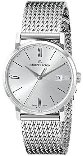 Maurice Lacroix EL1084-SS002-110 - Reloj de Pulsera Mujer, Acero Inoxidable, Color Plata
