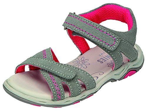 Greenies enfants sandales M. Velcro Sable. Gris - Platin