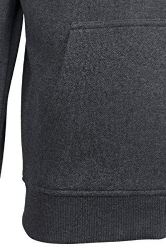 Urban Classics Herren Kapuzenjacke Basic Zip Hoodie - einfarbiges Sweatshirt mit Kapuze, Kapuzenpullover mit Reißverschluss Grau (Charcoal 91)