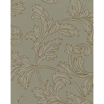marburg tapete astoria vliestapete 53715 ranken grau gr n. Black Bedroom Furniture Sets. Home Design Ideas
