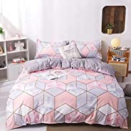 DEALS FOR LESS -Duvet cover set of 6 Pieces, MarbleDesign.