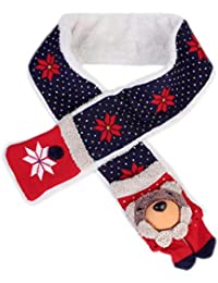 Damara Lovely Plush Bear Children's Cold Weather Scarf With Pocket