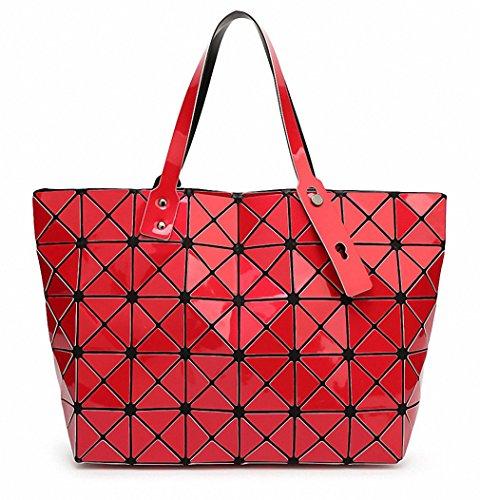 Ripiegamento del sacco a spalla Moda Borse Moda Donna Casual Tote maniglia superiore sacchetti classico al cioccolato Red