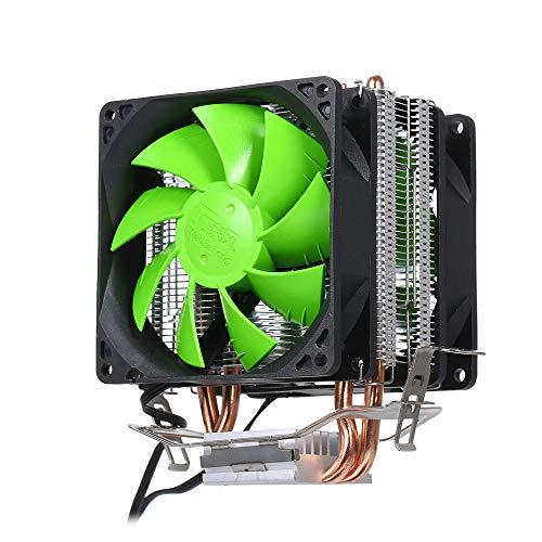 Festnight Hydraulische CPU-Kühler-Heatpipe-Lüfter Leiser Doppelkühler-Kühlkörper für Intel 2011 -