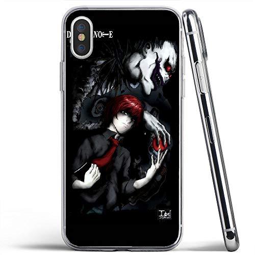 XEKPMECWUD Zomemkd Transparente stoßfeste Telefonabdeckung Ftwxmz TPU Case Design Jfmj Für iPhone XS MAX Hülle (Note-handy-fall Death)