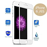 """AMAZECO iPhone 6/6s Screen Protector (4.7"""") - [0.3mm 9H - Tempered Glass] [3D Touch Compatible & 3D Curved Edge] [HD Clear] [Bubble-free Installation] Tempered Glass Screen protector for iPhone 6/6s (White)"""