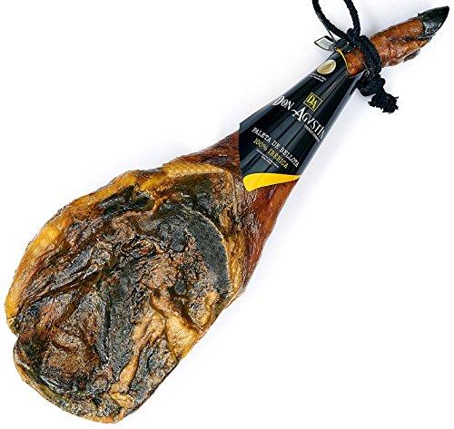 Prosciutto spagnolo pata negra ibérico 100% puro di ghianda (spalla) 4 – 4.5 kg | jamon iberico (paleta 100% iberica pura de bellota)