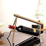 Armadietto ornamenti in stile europeo vino oro spazio modello luce nel vino da tavola ristorante cooler decorazione della casa dolce spettacolo americano