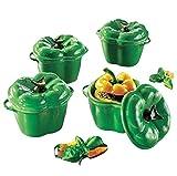 joka international GmbH Mini Topf 4er Set Paprika grün Form Vorspeisen Suppen kochen Töpfe