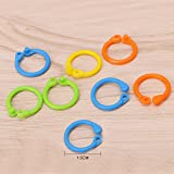 #2: New 50 Pieces Knitting Crochet Locking RING Stitch Markers (Mixed Color - Yellow,Green,Blue,Orange) Stitch Needle Clip Knitting Crochet Markers...