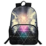Happy little sheep School Backpack Galaxy Water-Resistant Fashion Daypack Rucksack(Blue)