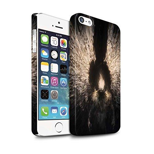 Offiziell Chris Cold Hülle / Matte Snap-On Case für Apple iPhone 5/5S / Pack 10pcs Muster / Dunkle Kunst Dämon Kollektion Zeriel das Licht