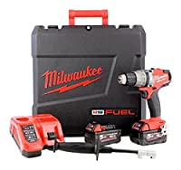 Milwaukee M18FPD-502X M18 Fuel Percussion Drill (2 x 5.0ah batteries, fast charger, dynacase)