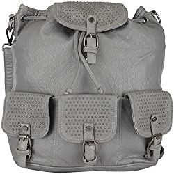Moda King Women's Handbags (Grey) (ModaKing020)