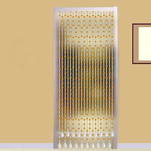 GuoWei Perlenvorhang Türvorhang Glas Kristall Anhänger Türöffnung Raumteiler Hängend Strings Dekorativ Champagner Anpassbar (größe : 150x240cm)